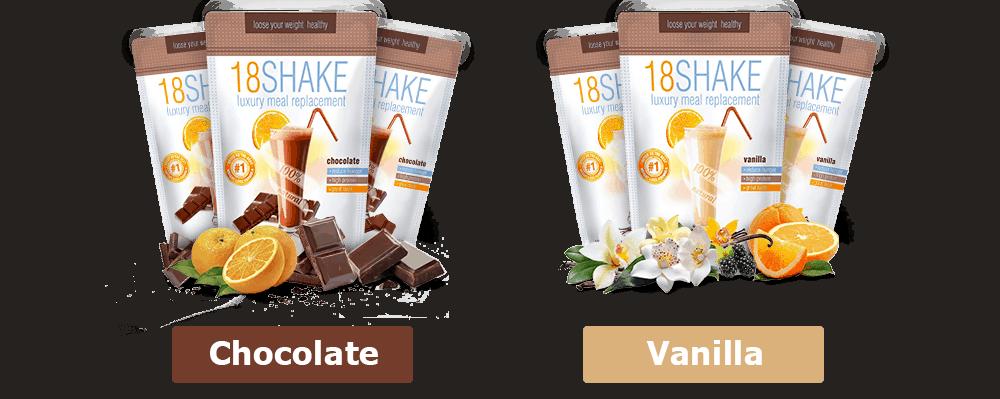 18 shake flavors