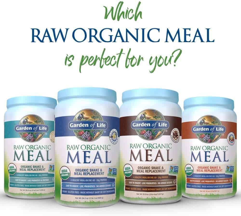 garden of life raw organic meal flavors