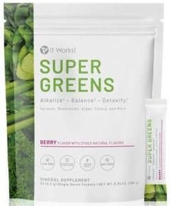 It works! Super Greens Berry Flavor