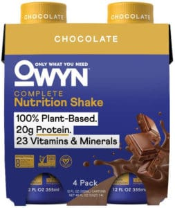 OWYN - 100 Percent Vegan Plant-Based Meal Replacement Shakes