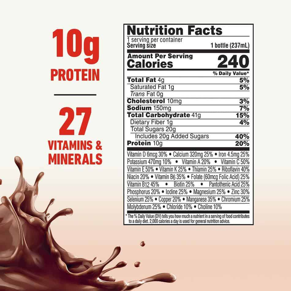 boost nutritional facts