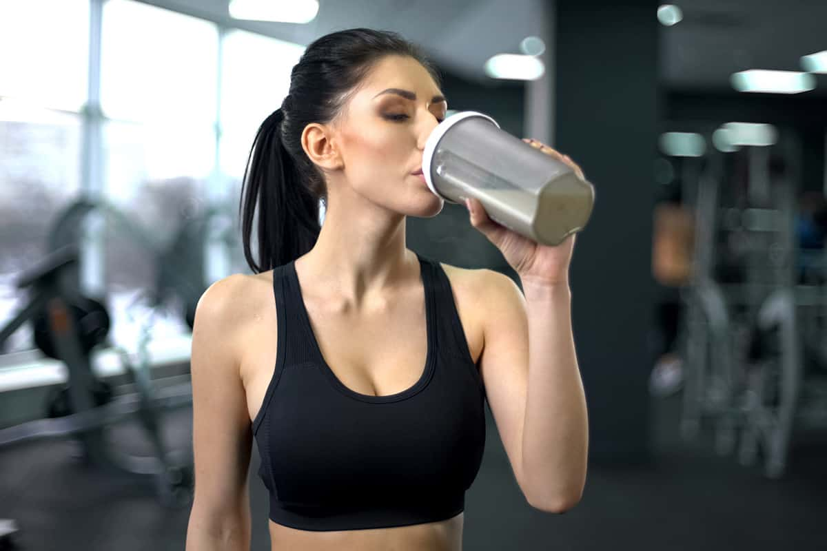 meal replacement shake - before or after workout