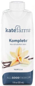 Kate Farms Komplete Vanilla Meal Replacement Shake