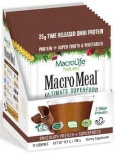 MacroMeal Omni Chocolate Packets