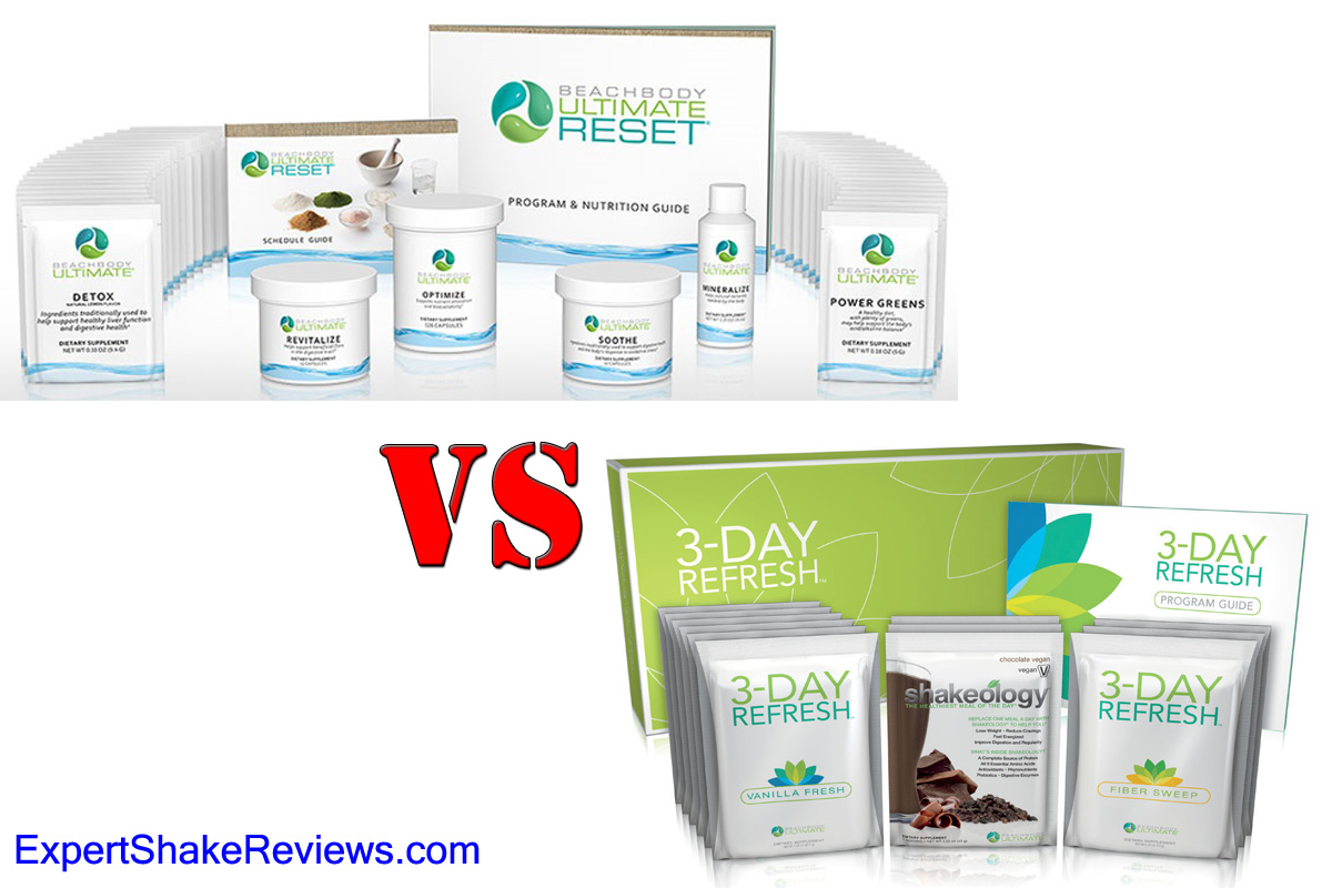 Ultimate Reset vs 3-Day Refresh BEST Cleanse For You